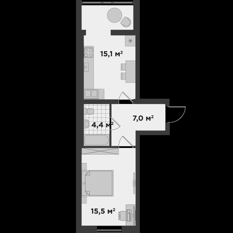 1а 41,72 м²