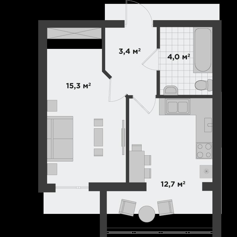 1г 35,5 м²