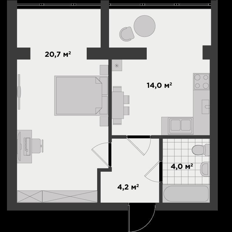 1г 43 м²