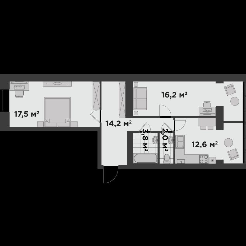 2а 66,30 м²