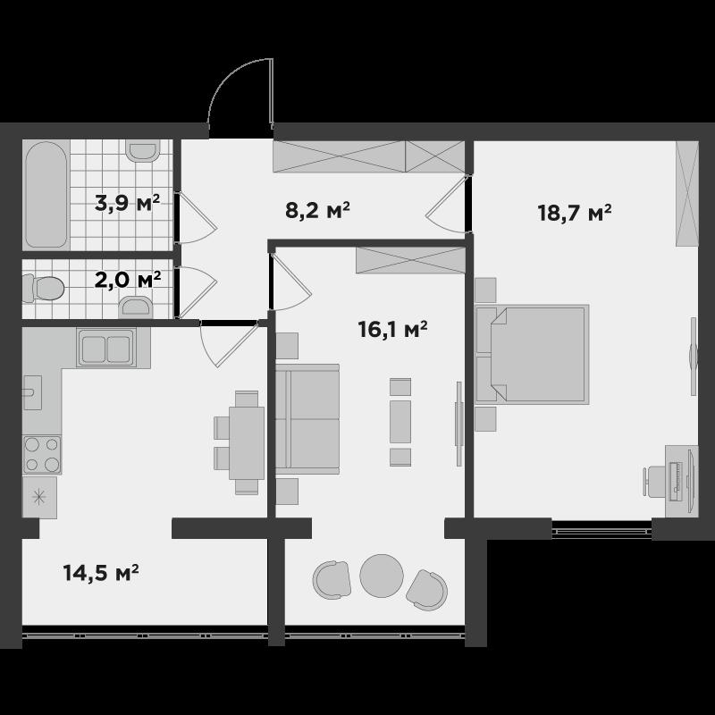 2а 63,40 м²