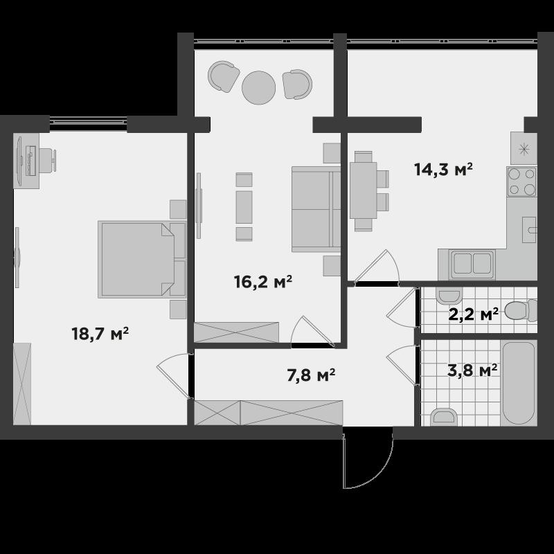 2б 63,1 м²