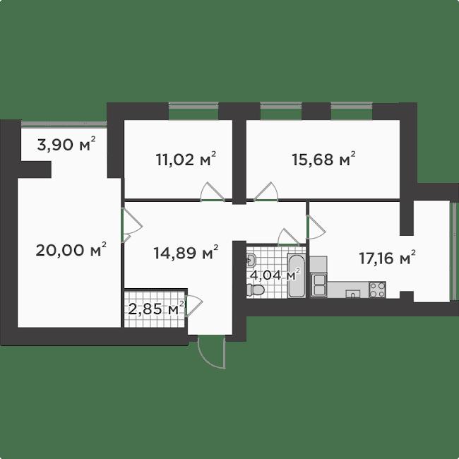 3а 93,44 м²