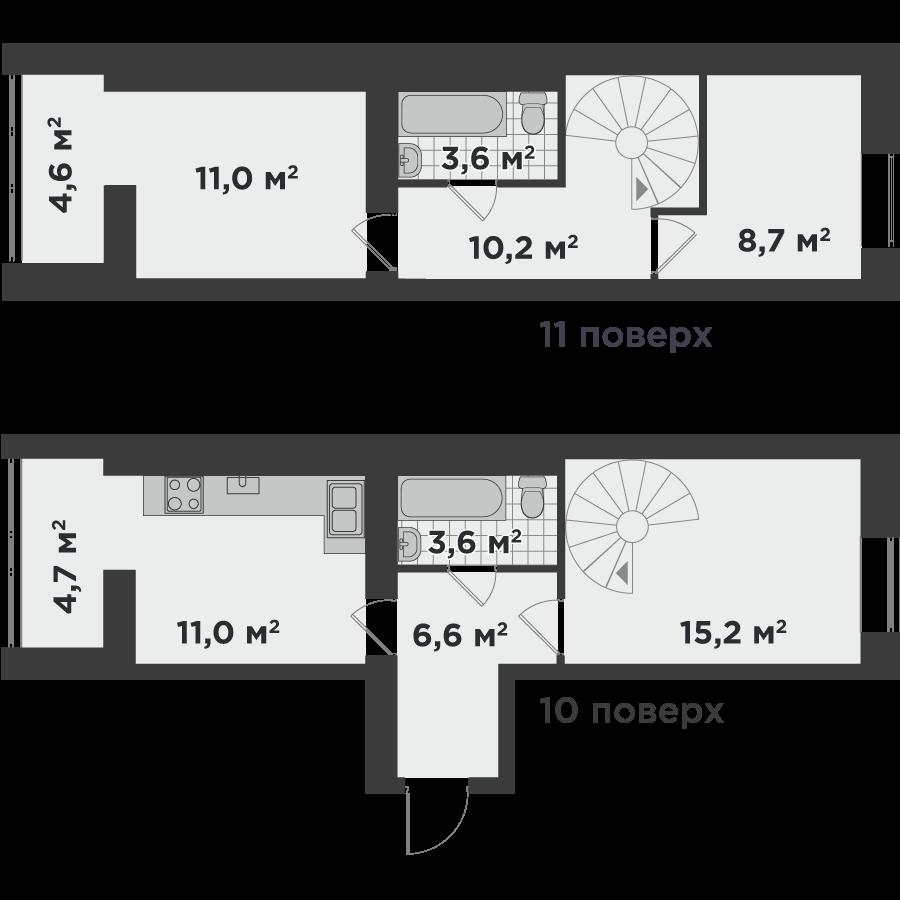3е 79,2 м²