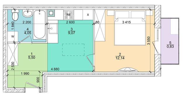1к 31,5 м²