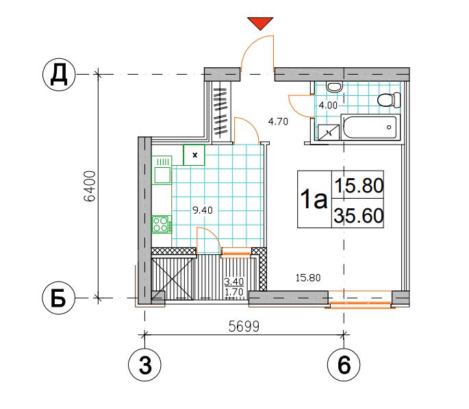 1к 35,60-м²