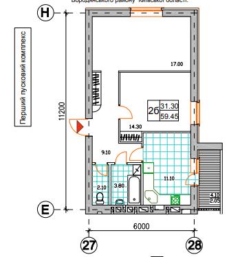 2к 59,45 м²