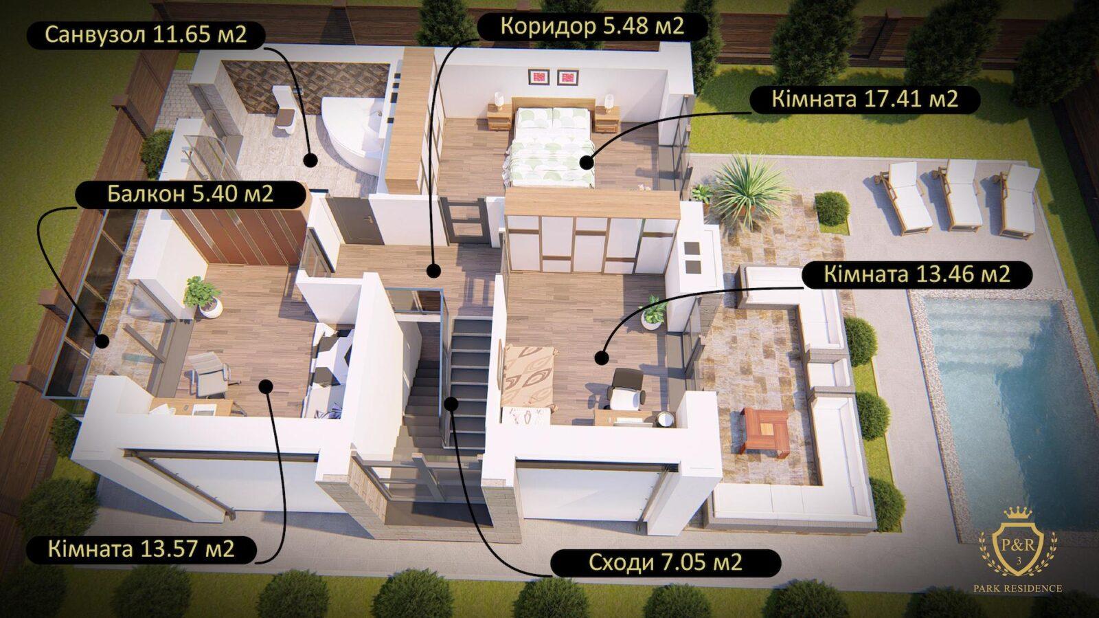 План 2 поверху, будинок 135 м кв