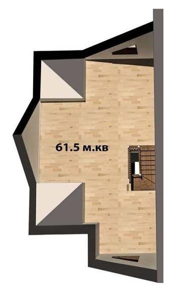 План 3 поверху, дуплекс 200 м кв