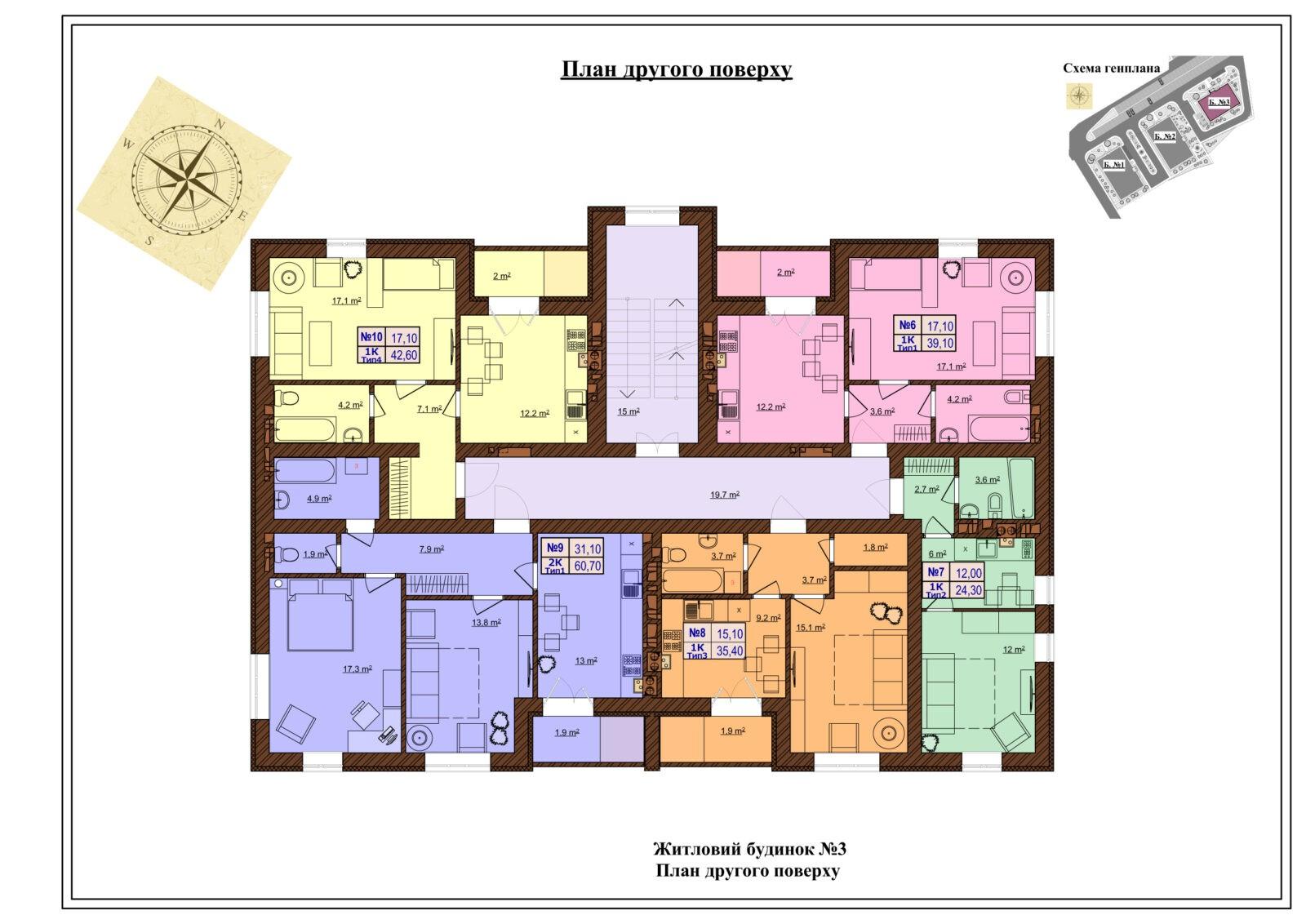 Будинок 3 поверховий план